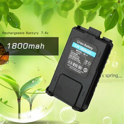 BL 5 1800mAh 7.4V Li-ion Two Way Radio Battery for UV 5R 5RE 5RA for Baofeng OI