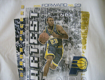 cc3a588ae303 RON ARTEST  91 Indiana Pacers Authentic Jersey Reebok Size 56 ...