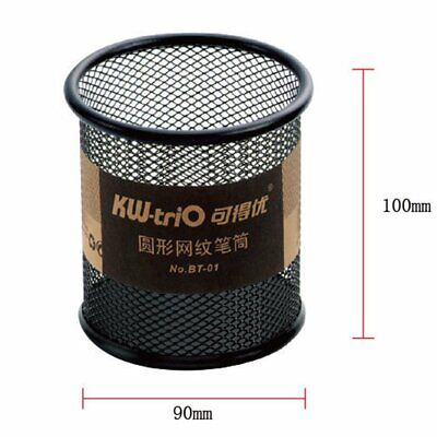 BT-01 Round Metal Fashion Mesh Pen Holder With Sponge Base To Protect The Tip YR