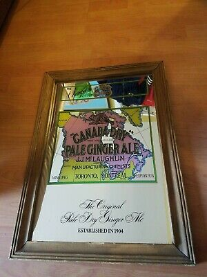 Vintage 1970's CANADA DRY Pale Gingerale Bar Mirror 20x14