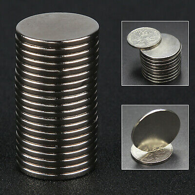 20pcs N52 Grade 20mm x 2mm Disc Rare Earth Neodymium Super Strong Magnets UK