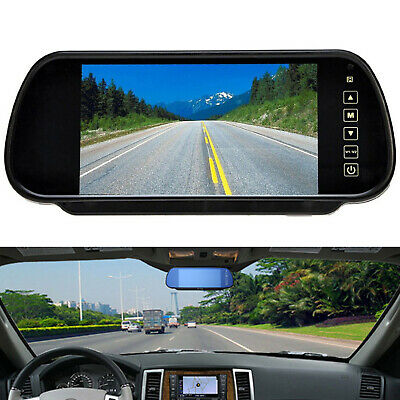 """800*480 Car Rear View Mirror Monitor For Parking Reverse Camera New 7"""" TFT LCD"""