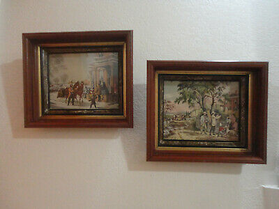 Vintage Pair of  Victorian Wood Gold Gilt Shadowbox Picture Frames (57)