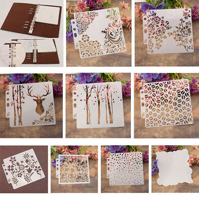 DIY Layering Stencils Plastic Template Wall Painting Scrapbooking Stamping Craft