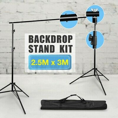 Photo Video Studio 2.5x3m Background Support Backdrop Stand Cross Bar System Set