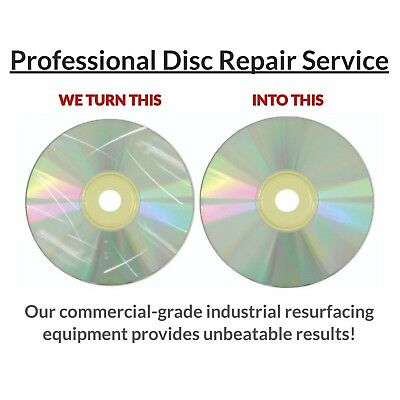25 Disc Repair Service: CD, Xbox PlayStation Wii Games, DVD with Eco Master