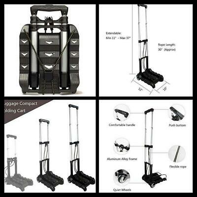 Compact Folding Luggage Holder Cart Lightweight Aluminum Hand Truck with Wheels