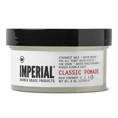 NEW IMPERIAL BARBER CLASSIC POMADE 177gm Mens Water Based Styling Product