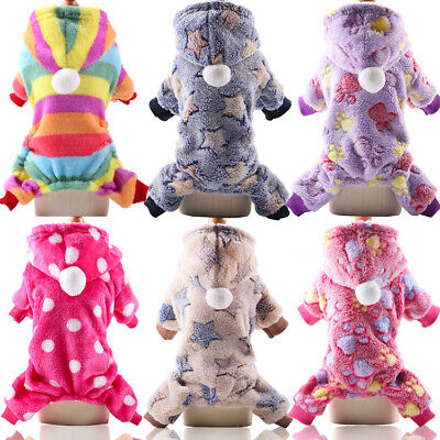 Puppy Dog Winter Jumpsuit Clothes Apparel Cute Pet Jumpers Hoodie Coat Costumes