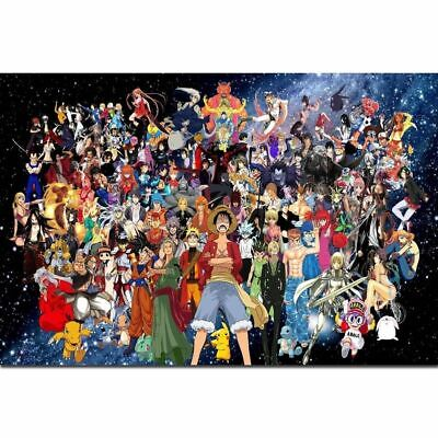 H-1842 One Piece Kingdom All Characters Hot Classic Anime Wall Silk Poster