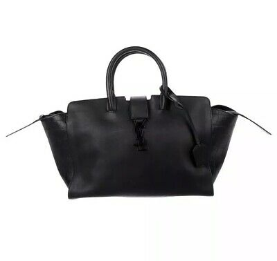 296d4c2495 SAINT LAURENT 2017 YSL Baby DOWNTOWN CABAS Tote.LEATHER & CROCO EMBOSSED  Black