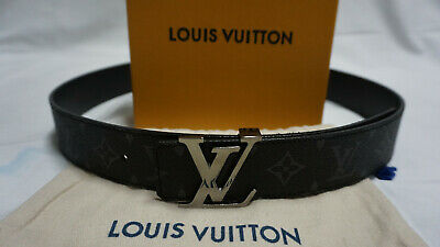 fcf281a0cb79 Louis Vuitton Monogram Eclipse Belt Reversible Size 95 38 M9043 100%  AUTHENITC
