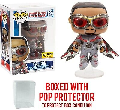 Funko POP! Marvel Hot Topic Exclusive Civil War Falcon With Soft Protector