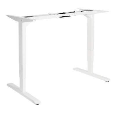 Twin Motor Height Adjustable Electric Sit Stand Desk Table White Frame only