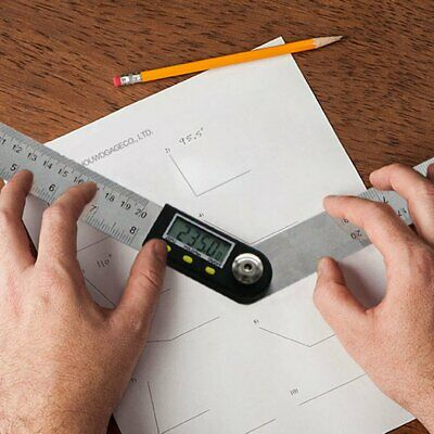 200mm Digital Protractor Inclinometer Goniometer Level Measuring Instrument#KZ