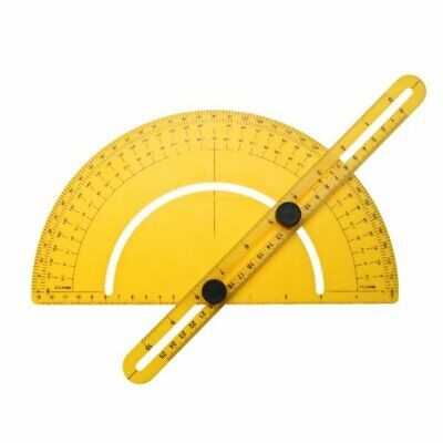 Multi-function ABS Plastic Protractor Angle Ruler Portable Size Measuring Tool#Z