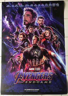ORIGINAL Avengers ENDGAME movie INTL 27x40 DS POSTER double 2 sided Final