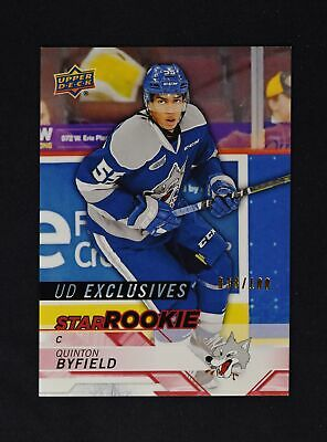 2018-19 UD Upper Deck CHL Star Rookies Exclusives #400 Quinton Byfield /100