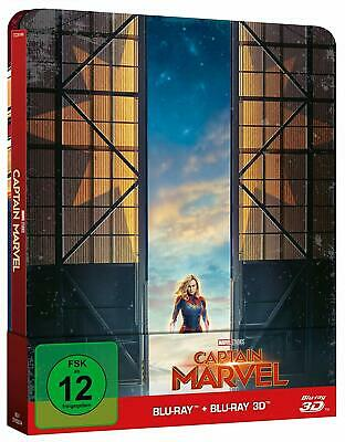 Captain Marvel (3D + 2D Blu-ray Steelbook) TITLE ON SPINE - NEW / SEALED
