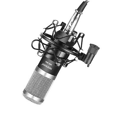Neewer NW-800 Black/Silver Condenser Microphone Set with Shock Mount & Foam Cap