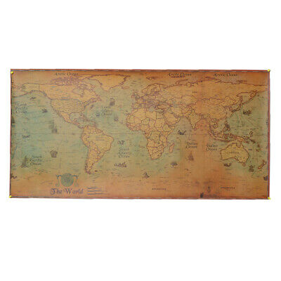 Blesiya Hanging The World Antique Style Map Poster Ancient Sailing Map Large