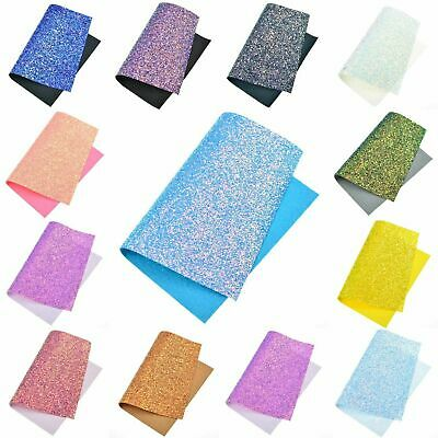 A4 Chunky Glitter Fabric Sparkly Prefect For Bows & Crafts Art Craft DIY