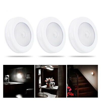 3X / 6X LED Motion Sensor Light PIR Battery Stick on In/Outdoor Wall Stair Lamp