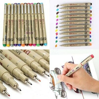 0.5 Art Manga Fine Point Copic Graphic Sketch Drawing Markers Pen chic DL5