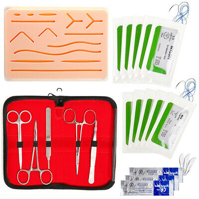 Suture Practice Kit Suturing Human Skin Medical Silicone Study Training Pad Tool