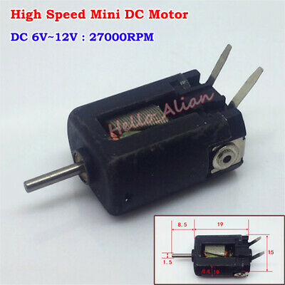 DC 6V 9V 12V 27000RPM High Speed Power Mini 15mm DC Motor DIY RC Car Boat Toy