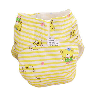 Washable Baby Nappy 2 Layer Cloth Reusable Diaper Cotton Cover Wrap Waterproof