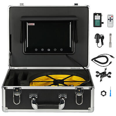 "7""LCD 30M Sewer Waterproof Camera Pipe Pipeline Drain Inspection System"
