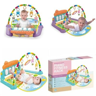 Baby Gym Play Mat Lay Play 4 in 1 Piano Fitness Rack Music Lights Fun XMAS Toy