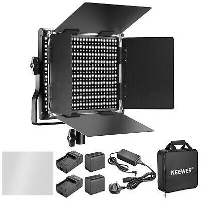 Neewer Dimmable Bi-color 660 LED Video Light Lighting Kit with Battery & Charger