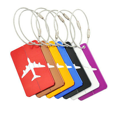 Aluminium Travel Luggage Baggage Tags Suitcase Identity Address Name Tel Label