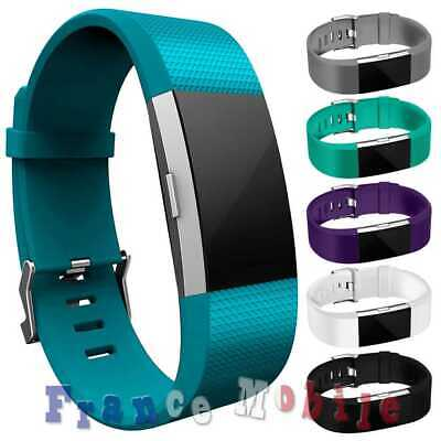 Armband de Remplacement Waterproof TPU pour Fitbit Charge 2 Vert Pale Taille L