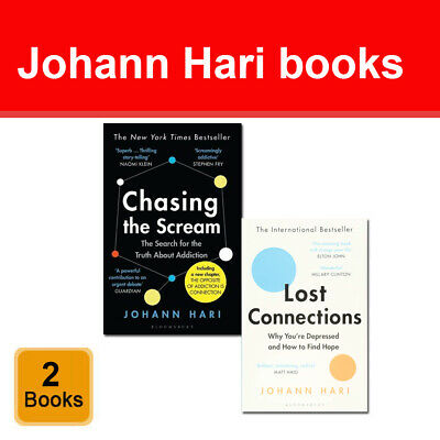 Johann Hari 2 Books Collection Set Pack Lost Connections, Chasing the Scream NEW