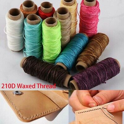 210D 30m/roll Waxed Thread Cotton Cord String Strap Hand Stitching Thread New