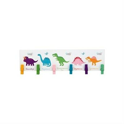 Dinosaur Wooden Peg Display Board, in box, by Sass & Belle