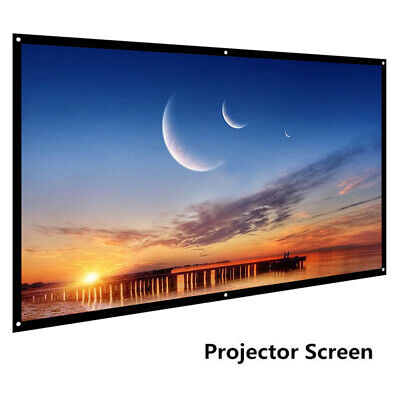 "Portable Foldable 60"" 16:9 For Wall Projection Projector Screen Movie C9I4"