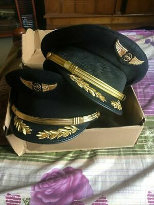 Custom Upscale Pilot Cap Airline Captain Hat Uniform Hat Party Cap Military Hats