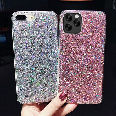 For Apple iPhone XS Max XR 8 7 Bling Glitter Sparkly Soft Gel Phone Cover Case