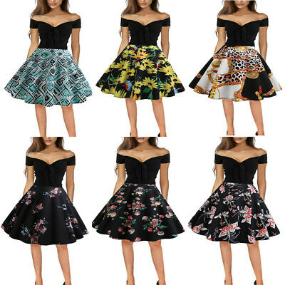Women Floral Print One Shoulder Bodycon Short Sleeve Evening Ball Swing Dress