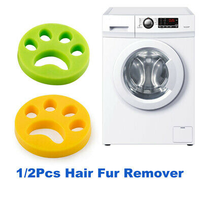 1/2Pcs Floating Pet Fur Hair Laundry Lint Remover Catcher for Washing Machine
