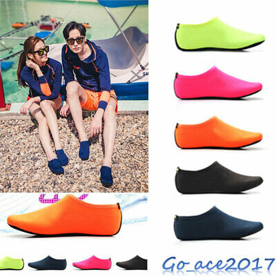 Mens Womens Water Shoes Aqua Socks Diving Socks Pool Beach Swim Slip On Surf New
