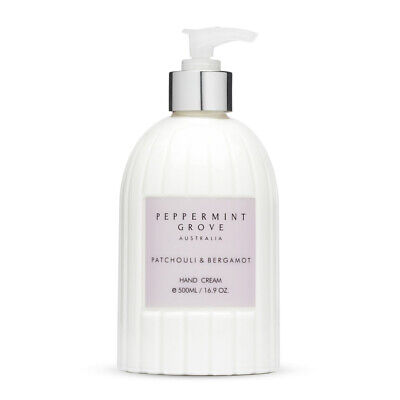 NEW Peppermint Grove Patchouli & Bergamot Hand Cream 500ml