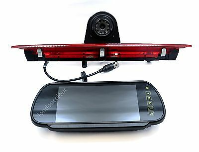 "Wireless Ford Transit IR Brake Light Rear Reverse Camera +7"" Clip-on Monitor Kit"