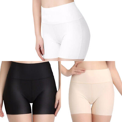 Women Short Pants Safety Elastic Anti Chafing High Waist Underwear Shorts 3Color