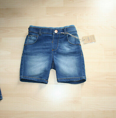 NEW Mothercare Boy Jeans Jersey Soft Stretchy Shorts Sz 5-6 yrs