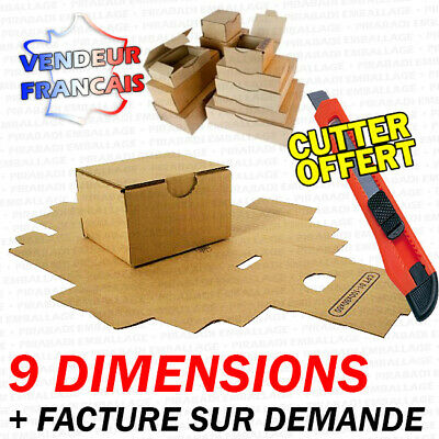 Boite Postale Carton D'expedition Marron Caisse Simple Cannelure 9 Dimensions
